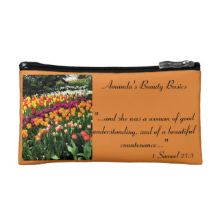 Personalized Tulip Cosmetic Bag