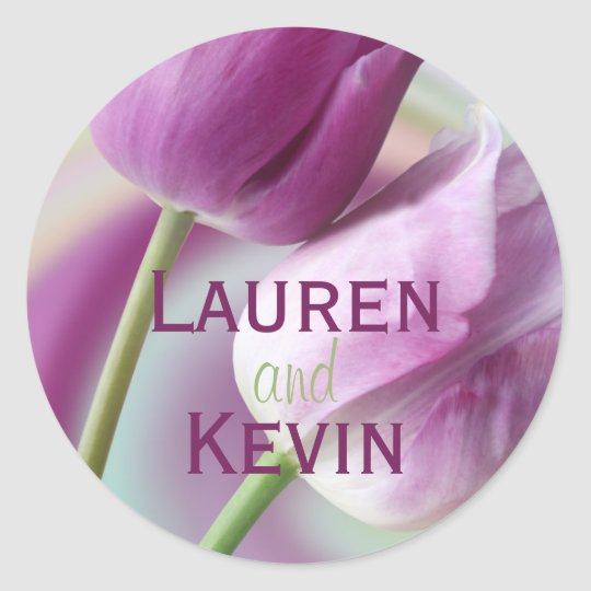 Personalized Tulip Wedding Seal