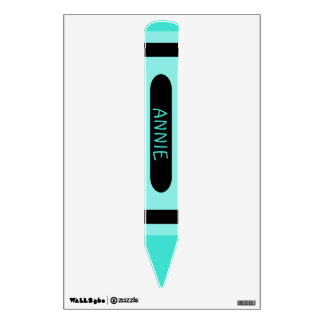 Personalized Turquoise Crayon Sign Wall Decal
