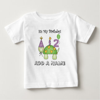 Personalized Turtle 2nd Birthday Tshirt