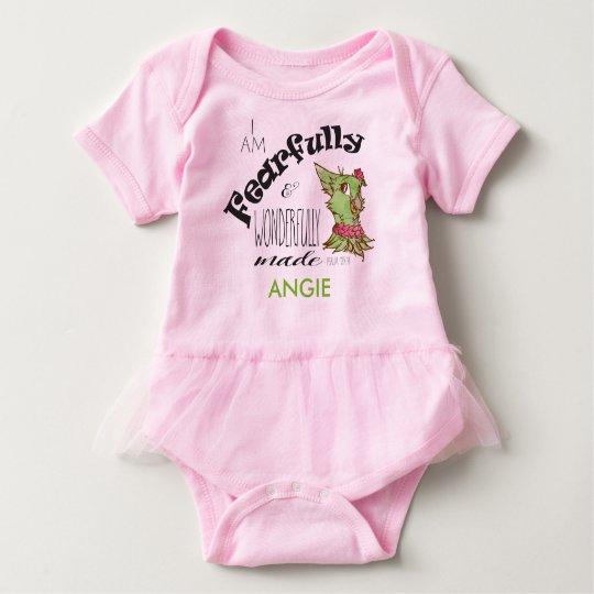 Personalized tutu baby shirt