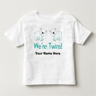 Personalized Twins Matching Apparel Toddler T-shirt