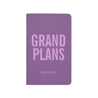 Personalized Typographic Block Text Grand Plans Journal