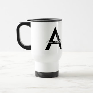Personalized Typography Monogram Travel Mug