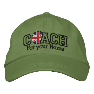 Personalized UK Coach with your name Embroidered Baseball Caps