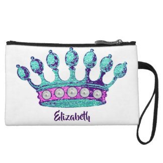 Personalized Under the Sea Queen Crown Clutch