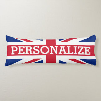 Personalized Union Jack Flag Body Pillow