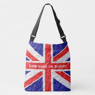Personalized Union Jack Flag Design Crossbody Bag