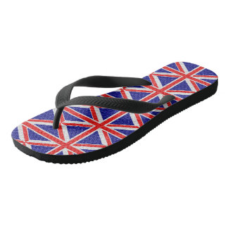 Personalized Union Jack Flag Design Flip Flops