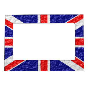 Personalized Union Jack Flag Design Magnetic Frame