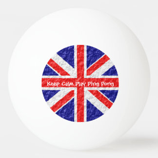 Personalized Union Jack Flag Design Ping-Pong Ball