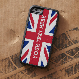 Personalized Union Jack Flag Tough Xtreme iPhone 6 Case