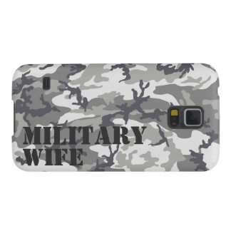 Personalized Urban Camouflage Military Wife Cases For Galaxy S5