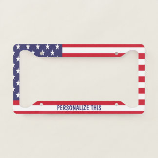 Personalized USA American Themed United States License Plate Frame