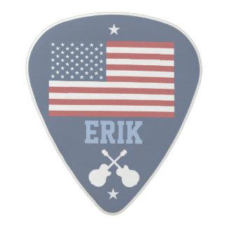 personalized USA flag guitar Acetal Guitar Pick