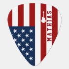 personalized USA flag guitar music Guitar Pick
