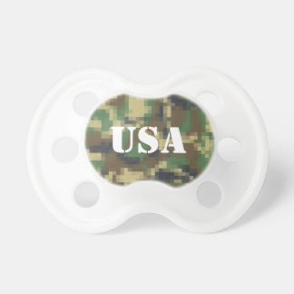 Personalized USA Pixel Camouflage Baby Pacifier