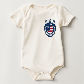 Personalized USA Sport Jersey Infant Baby Creeper