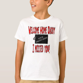 Personalized USMC Welcome Home Daddy T-Shirt