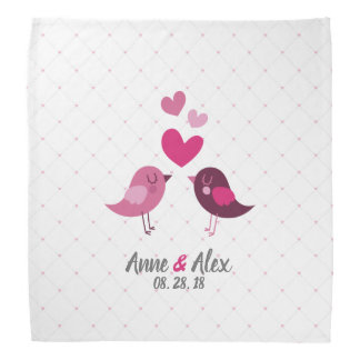 Personalized Valentine Wedding Anniversary Bandana