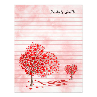 Personalized Valentine's Day Lined Writing Paper