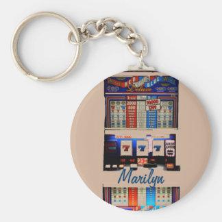 Personalized Vegas Style Slot Machine Keychain