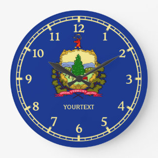 Personalized Vermont State Flag Design on a Large Clock