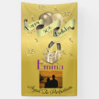 Personalized Vertical Happy 50th Birthday Banner