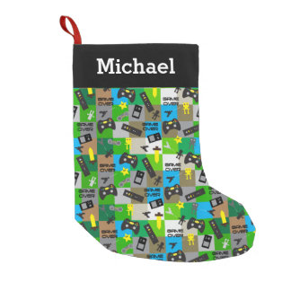 Personalized Video Game Gamer Boys Tweens Teens Small Christmas Stocking
