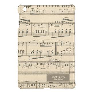 Personalized Vintage Antique Music iPad Mini Cover
