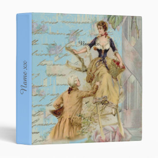 Personalized vintage art romantic couple gifts 3 ring binders