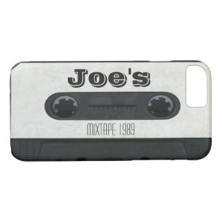 Personalized vintage audio cassette iphone 7 case