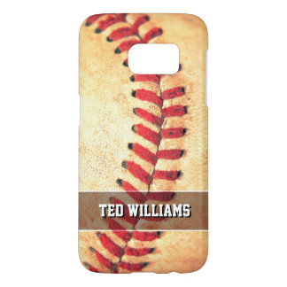 Personalized vintage baseball ball samsung galaxy s7 case