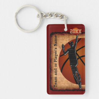 PERSONALIZED Vintage Basketball Senior Night Ideas Keychain