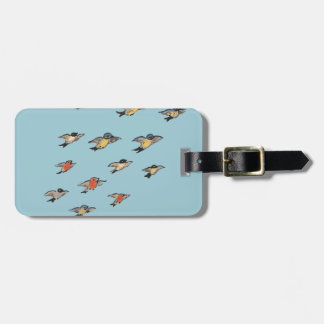 Personalized | Vintage Bird Design Luggage Tag