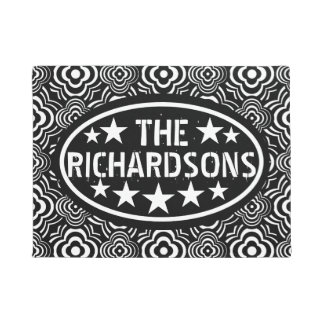 Personalized Vintage Black Peddler Doormat