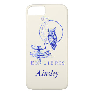 Personalized Vintage Blue Owl iPhone 7 Case