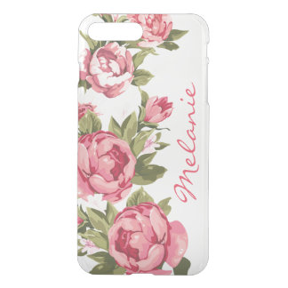 Personalized Vintage blush pink roses Peonies iPhone 8 Plus/7 Plus Case