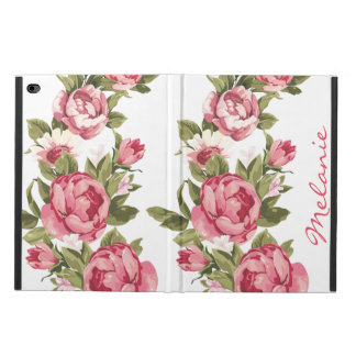 Personalized Vintage blush pink roses Peonies Powis iPad Air 2 Case