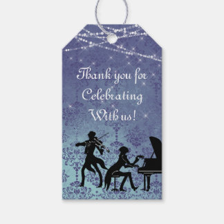 Personalized Vintage Classical Music Wedding Gift Tags