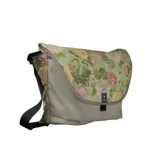 Personalized Vintage Country Floral Feminine Messenger Bags