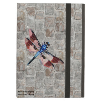 Personalized Vintage Dragonfly and Granite Paving Cover For iPad Air