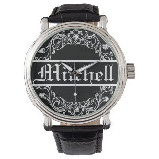 Personalized Vintage Floral Watch