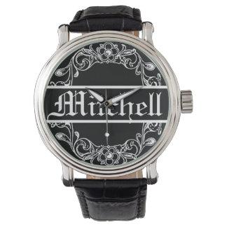 Personalized Vintage Floral Wristwatch
