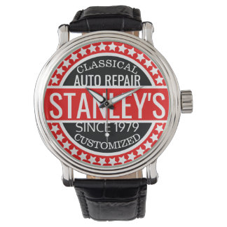 Personalized Vintage Garage Watch