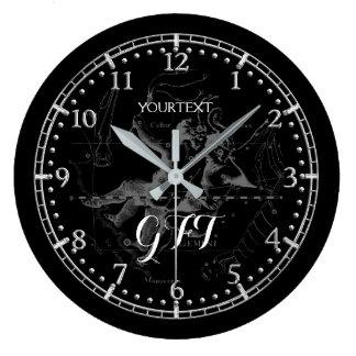 Personalized Vintage Gemini Constellation Zodiac Large Clock