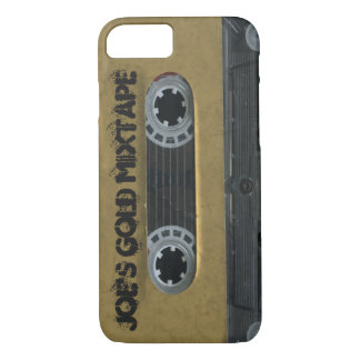 Personalized  vintage gold cassette iphone 7 case