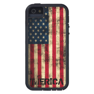 Personalized Vintage Grunge 'Merica Flag iPhone 5 Case