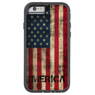Personalized Vintage Grunge 'Merica Flag Tough Xtreme iPhone 6 Case