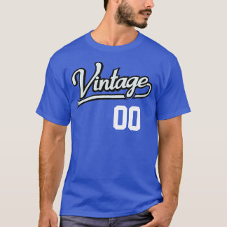 Personalized Vintage Jersey Style T-Shirt